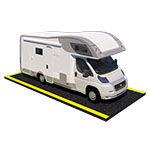 3D Model of a Outdoor Parking Space with Camper