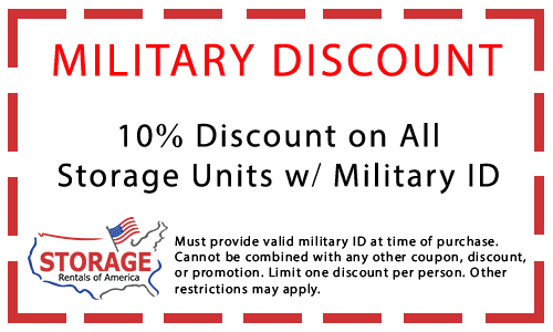 military self storage discount